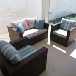 Título do anúncio: Conjunto de sofá imperatriz em fibra sintética