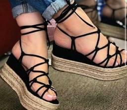 Vende - se sandálias plataforma, ana bela