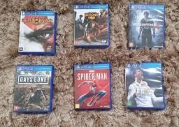 Vendo jogos de PlayStation 4 - muito barato
