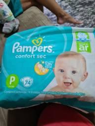 Fraldas pampers confort sec