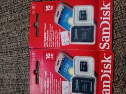 2 cartões de memória 16gb