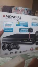 Aparelho de DVD Mondial na caixaa