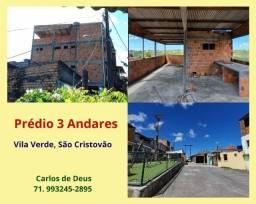Não perca: Prédio 3 andares , com varanda, cobertura , Vila Verde, São Cristovão