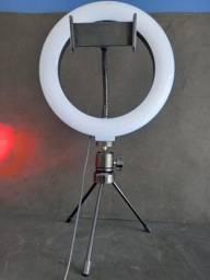 Ring fill light 8 polegadas com tripé para celular (House eletronics)