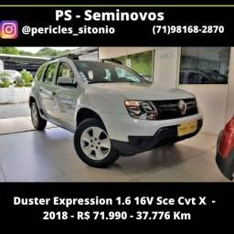 Duster Expression 1.6 16V Sce Cvt X - 2018 - R$ 71.990 - 37776 Km