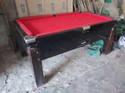 Snooker (Sinuca) nova (15 bolas) fomica preta pano vermelho