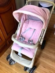 Carrinho de bebê Burigotto rosa