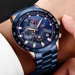 Relógio De Pulso Masculino Lige 2021 Top 100% Funcional Oferta Especial