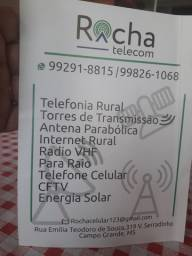 Internet rural, telefonia em geral