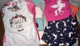 Lote 22 conjuntos menina infantil sortidos lojista oportunidade de marca