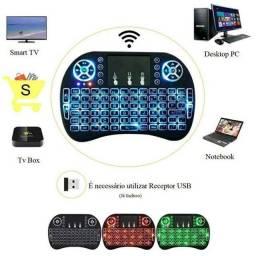 Controle/Mini Teclado Wireless Touchpad Sem Fio Com Led para Smart Tv Box