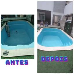 Restaurações e pintura de piscina