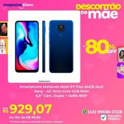 Smartphone Motorola Moto E7 Plus 64 GB Azul Navy ( Leia a Descrição )