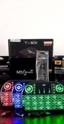 KIT TV BOX : TV BOX MXQ PRÓ 4K 4GB/64R ANDROID 10.1 WIFI2.4/5G (+) MINI TECLADO LUMINOSO