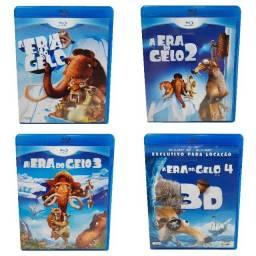Blu Ray Coleção A Era Do Gelo Em Ótimo Estado