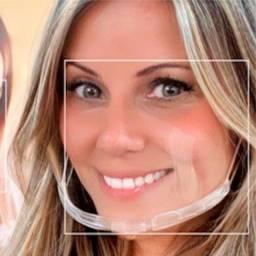 Mascara semi facial transparente casamento