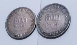 500 réis ano 1911 e 1912