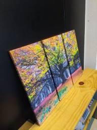 Quadro Arvore colorida decorativo