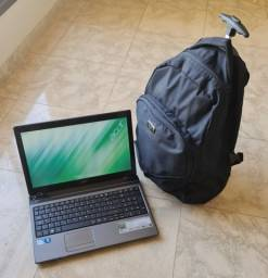 Mochila notebook executiva com rodas