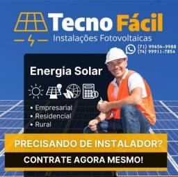 Instalação de energia solar para Integradores. Você vende e nós instalamos!