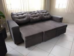 Sofá de 3 lug- retrátil e reclinável direto de fábrica promoção 2.300 a vista pix