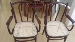 Cadeiras De Braço Thonet Austríacas - Assento de palha - Reformadíssima - (Preço Unitário)