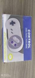 Controle modelo Super Nintendo com conectores USB
