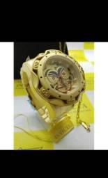 Kit relógio masculino invicta Coringa mais corrente Cartier oferta