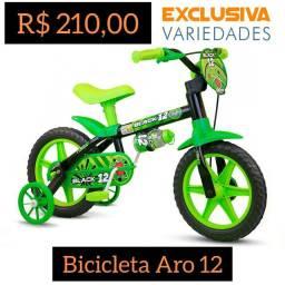 Bicicleta Infantil Aro 12 Menino Nathor + Entrega Grátis