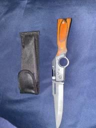 Canivete retrátil com lanterna