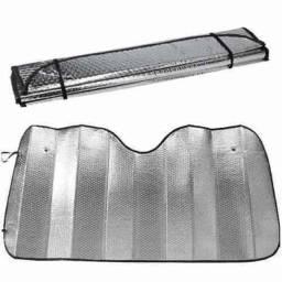 Protetor Solar Para-brisa Universal Cromado