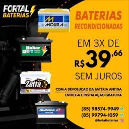 Título do anúncio: Bateria 60Ah Moura do Brava, Fiat Uno e Palio