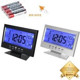 Título do anúncio: Relógio Digital de Mesa Despertador + Pilha Brinde