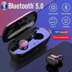 Fone De Ouvido Bluetooth V5.0 Sem Fio Y30 TWS Para Celular IOS ou Android