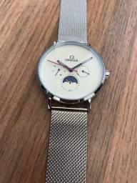 Relógio masculino ômega funcional oferta