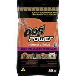 -Ração Dog Power Frango e Arroz para Cães Adultos Raças Pequenas 15kg