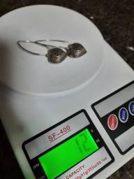 Brincos de prata de bali