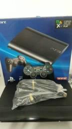 PS3 completo, lotado de jogos. PlayStation 3 Completo
