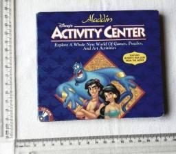 Raro - Jogo Antigo PC - Original - Aladdin Disney Activity Center - 1995 - Mídia Física
