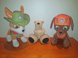 Pelúcias Patrulha Canina + Urso Mp3