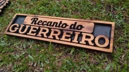 Placa para Fazenda, chácara, sítio em madeira