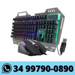 Kit Teclado e Mouse Gamer Knup