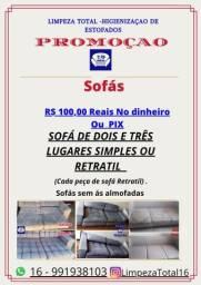 Limpeza de Estofados - Promoção 100 reais