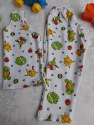 Lote de 8 pijama infantil, de 1ano a 3