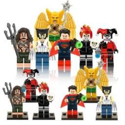 Kit 6 Bonecos Lego Marvel Dc Herois - C/ Equipamento