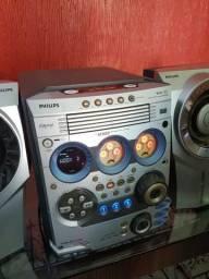 Aparelho de som Philips com 500W Rms.