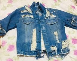 Jaqueta Jeans Detonada. 30,00$