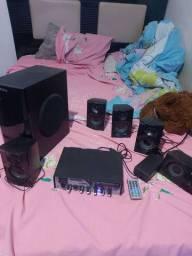 Amplificador com caixas