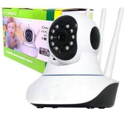 Ip Camera Wifi Com 3 Antenas Onvif HD P2p 360