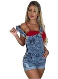 Jardineira Jeans, sem Strech